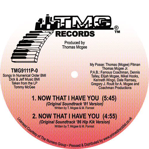 Tommy McGee/NOW THAT I HAVE YOU 12""