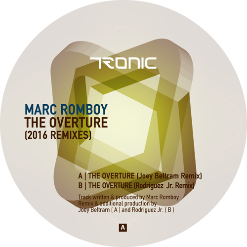 Marc Romboy/THE OVERTURE -2016 RMX'S 12""