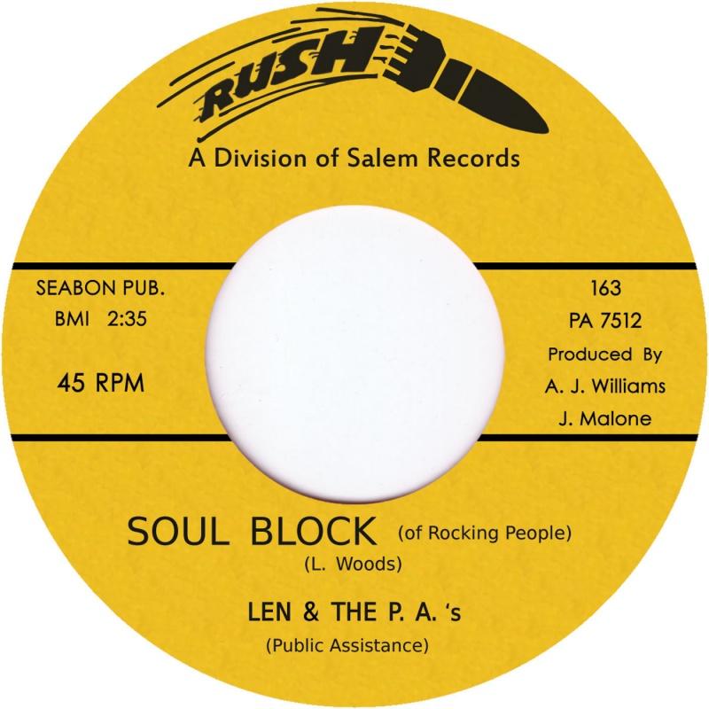 """Len & The P.A.'s/SOUL BLOCK 7"""""""
