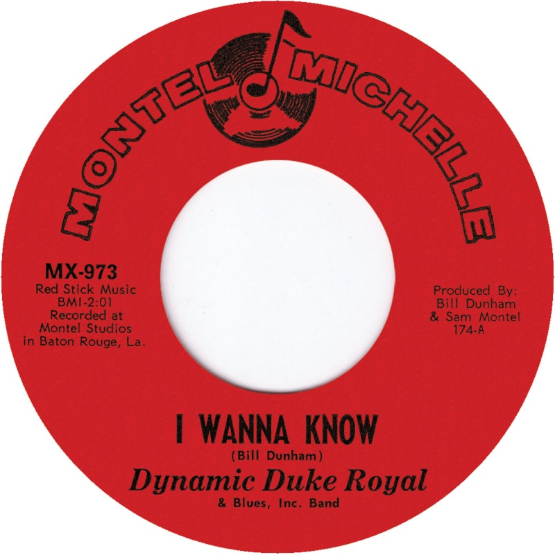 Dynamic Duke Royal/I WANNA KNOW 7""