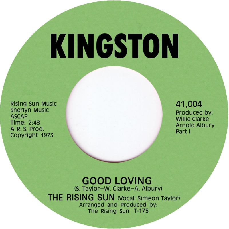 "Rising Sun/GOOD LOVING 7"""