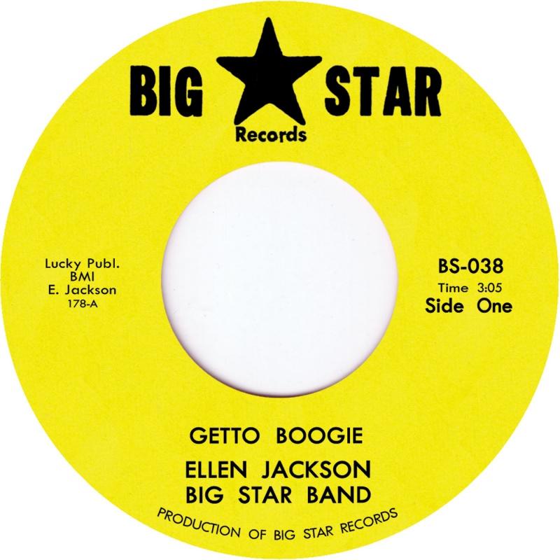 """Ellen Jackson Big Star/GETTO BOOGIE 7"""""""