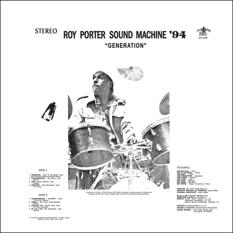 Roy Porter Sound Machine/GENERATION LP