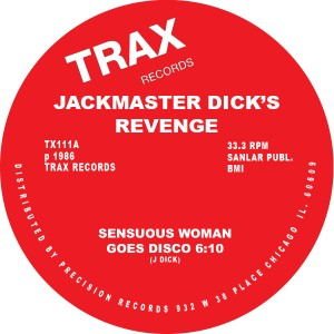 "Jackmaster Dick's Revenge/SENSUOUS.. 12"""