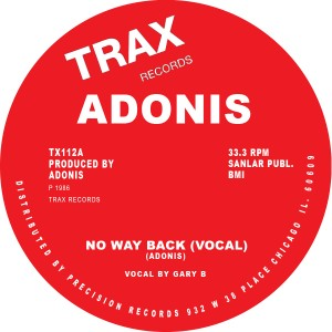 Adonis/NO WAY BACK 12""