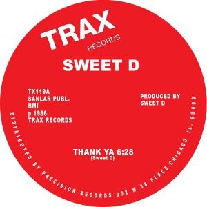 "Sweet D/THANK YA 12"""