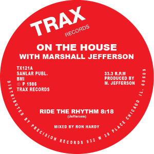 Marshall Jefferson/RIDE THE RHYTHM 12""