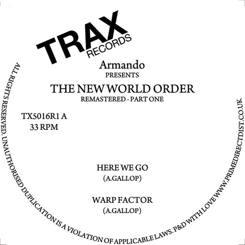 Armando/NEW WORLD ORDER PT. 1 12""