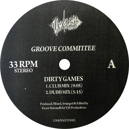 """Groove Committee/DIRTY GAMES 12"""""""