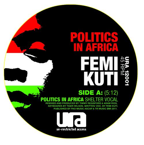 "Femi Kuti/POLITICS... (SHELTER RMX) 12"""