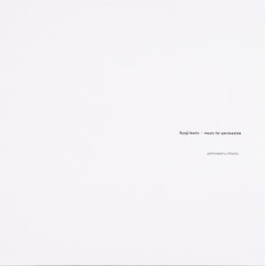Ryoji Ikeda/MUSIC FOR PERCUSSION LP