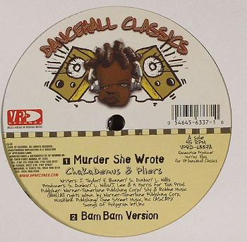 "Chaka Demus&Pliers/MURDER SHE WROTE 12"""