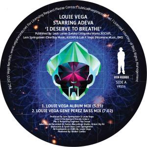"""Louie Vega/I DESERVE TO BREATHE 12"""""""