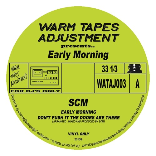 SCM & Jordan Fields/EARLY MORNING 12""