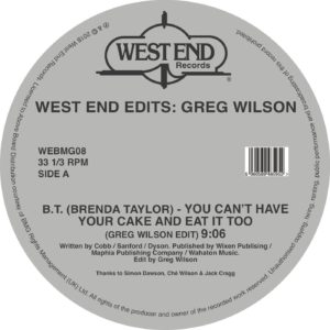 Greg Wilson/WEST END EDITS D12""