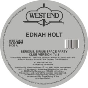 Ednah Holt/SERIOUS, SIRIUS SPACE... 12""