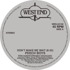 Peech Boys/DON'T MAKE ME WAIT 12""