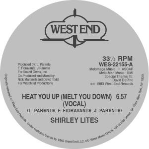 "Shirley Lites/HEAT YOU UP 12"""