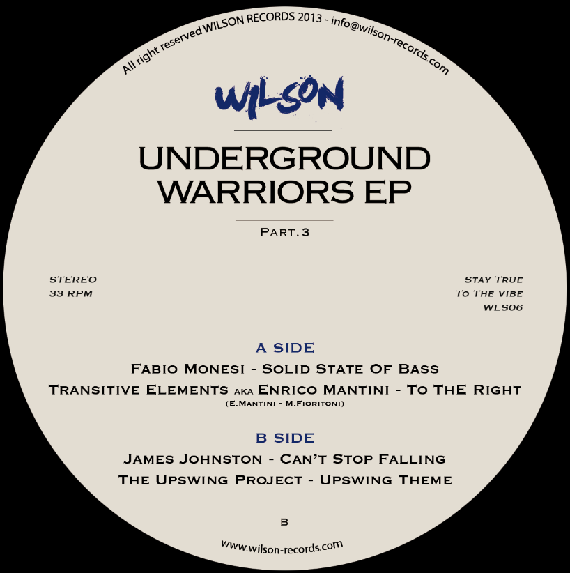 Various/UNDERGROUND WARRIORS EP #3 12""