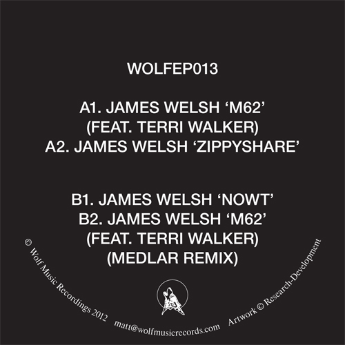 James Welsh/M62 - MEDLAR REMIX 12""