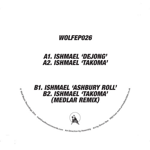 "Ishmael/WOLF EP 26 12"""