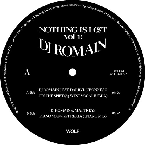 DJ Romain/NOTHING IS LOST VOL. 1 12""