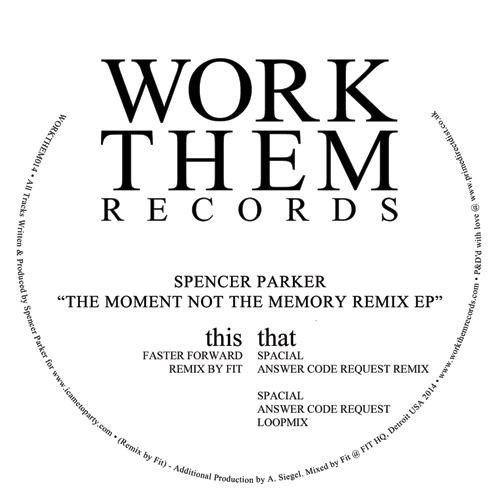 Spencer Parker/SPACIAL REMIXES 12""
