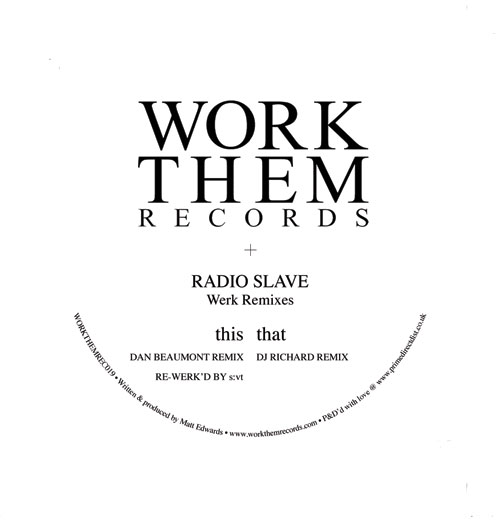 Radio Slave/WERK REMIXES 12""