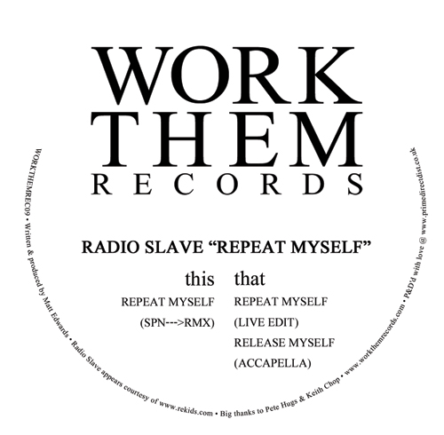 Radio Slave/REPEAT MYSELF (SPN RMX) 12""