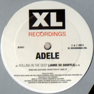 Adele/ROLLING IN THE DEEP XX REMIX 12""