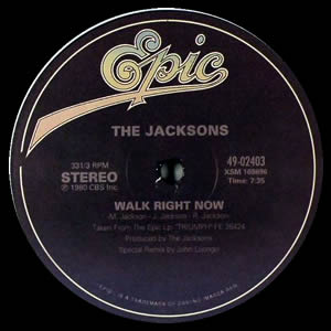 Jacksons, The/WALK RIGHT NOW REISSUE 12""