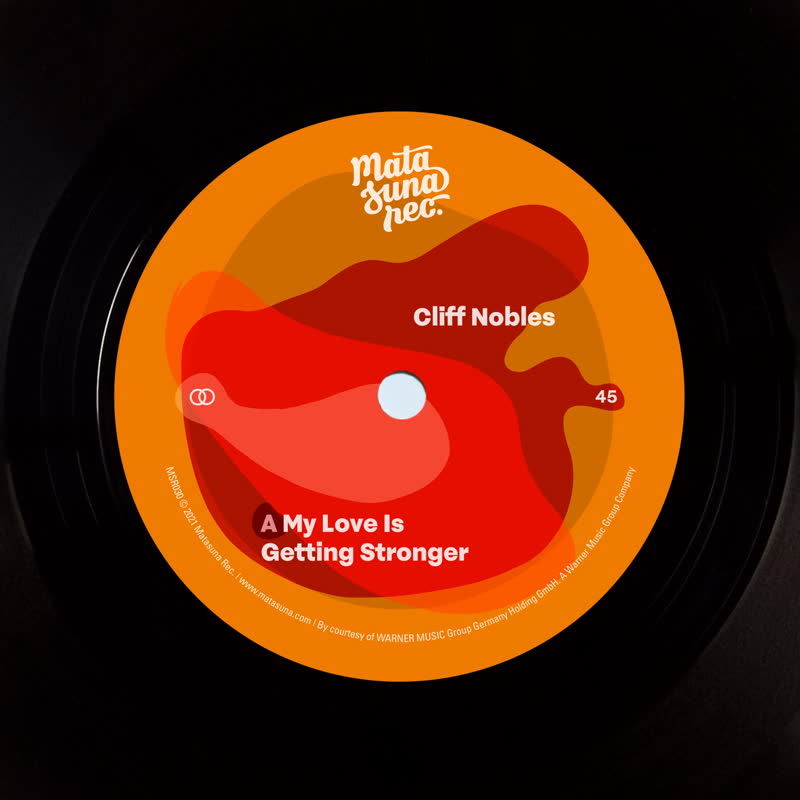 """Cliff Nobles/MY LOVE IS GETTING... 7"""""""