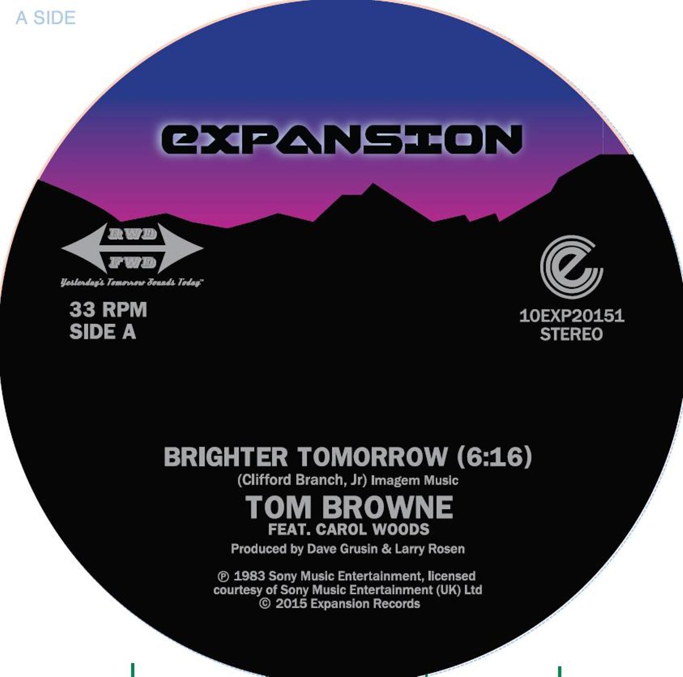 "Tom Browne/BRIGHTER TOMORROW 10"""