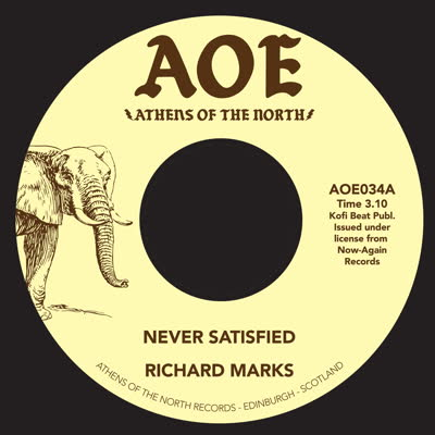"Richard Marks/NEVER SATISFIED 7"""