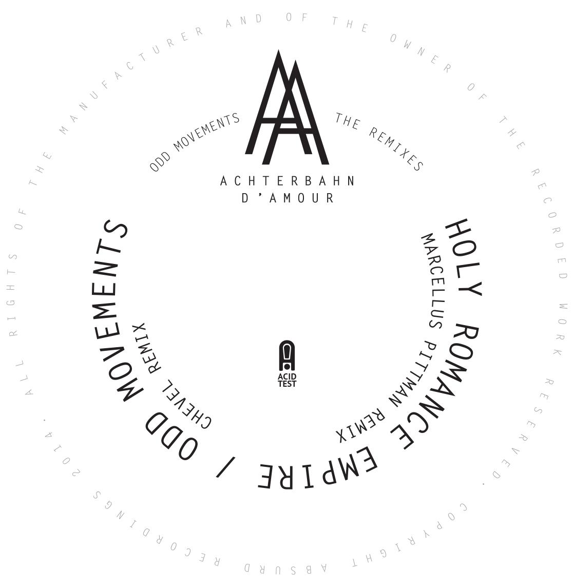 "Achterbahn D'Amour/ODD MOVEMENTS RMX 12"""