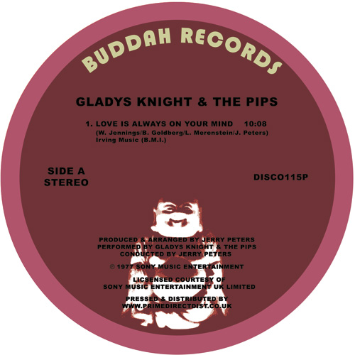 "Gladys Knight/LOVE IS ALWAYS ON MY.. 12"""