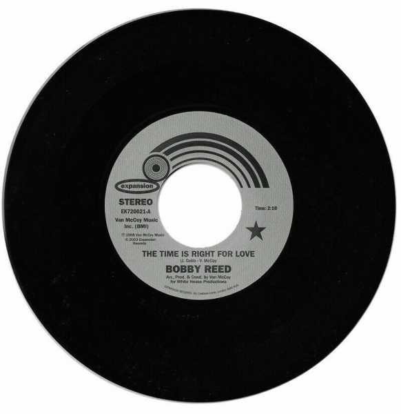 """Bobby Reed/THE TIME IS RIGHT FOR LOVE 7"""""""