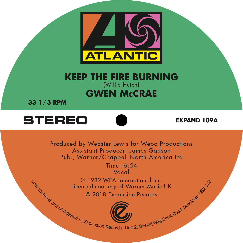 "Gwen McCrae/KEEP THE FIRE BURNING 12"""