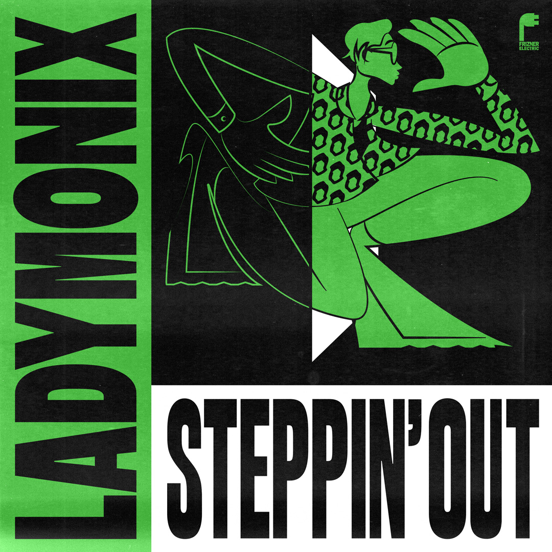 "Ladymonix/STEPPIN' OUT (WAAJEED RMX) 12"""