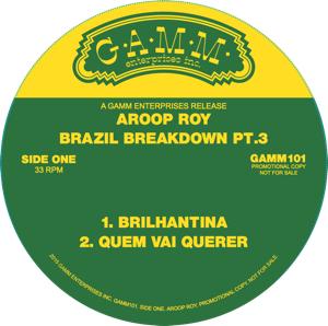 "Aroop Roy/BRAZIL BREAKDOWN PT. 3 12"""