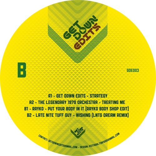 "Get Down Edits/VOLUME 3 EP 12"""