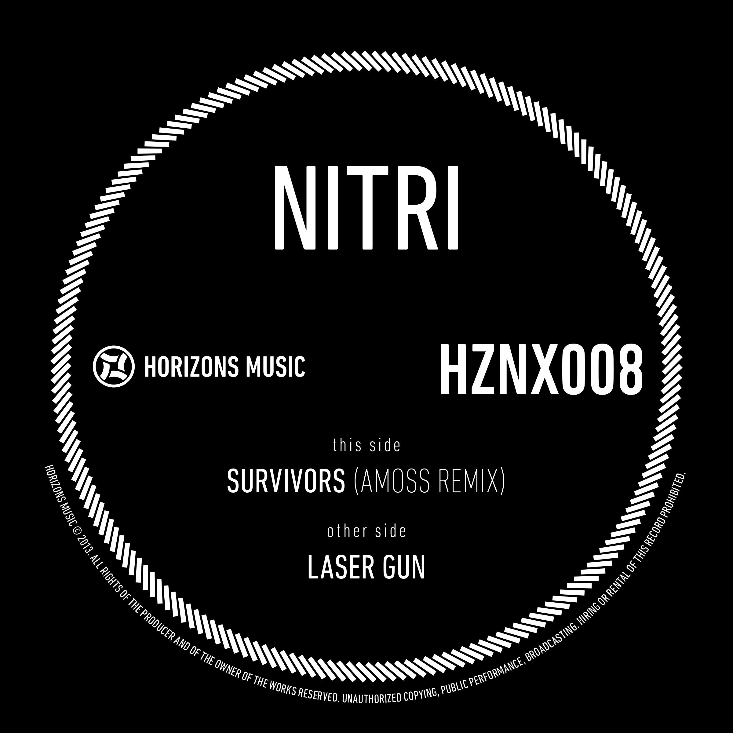 "Nitri/SURVIVORS (AMOSS REMIX) 12"""