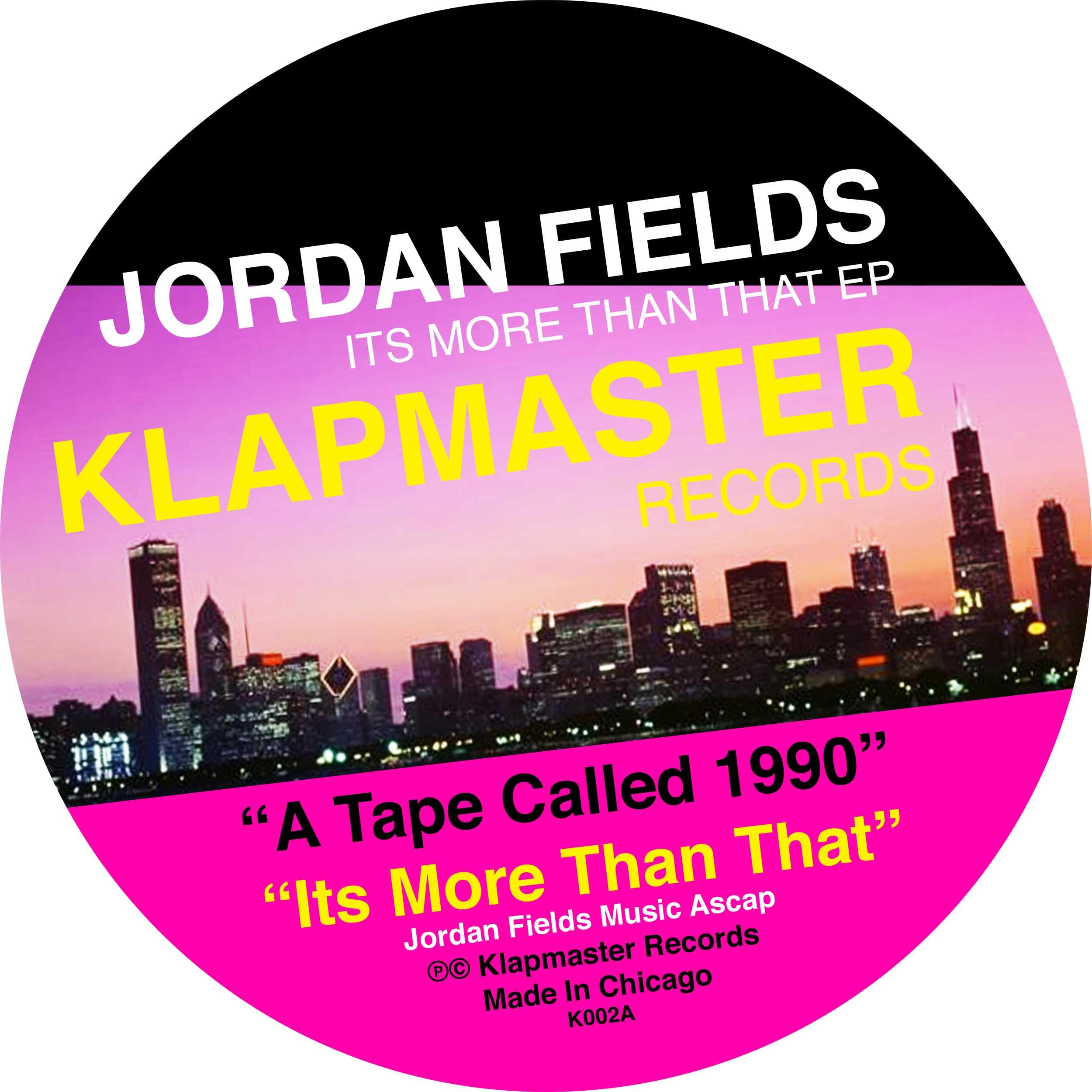 "Jordan Fields/ITS MORE THAN THAT EP 12"""