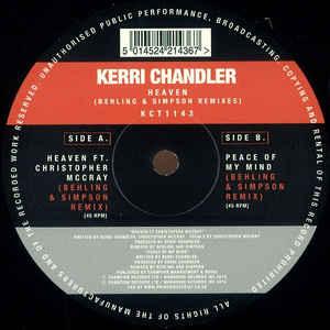 "Kerri Chandler/HEAVEN (B & S REMIX) 12"""