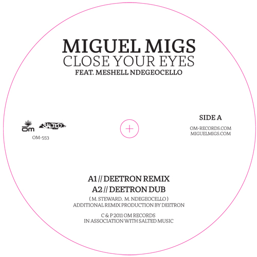 """Miguel Migs/CLOSE YOUR EYES 12"""""""