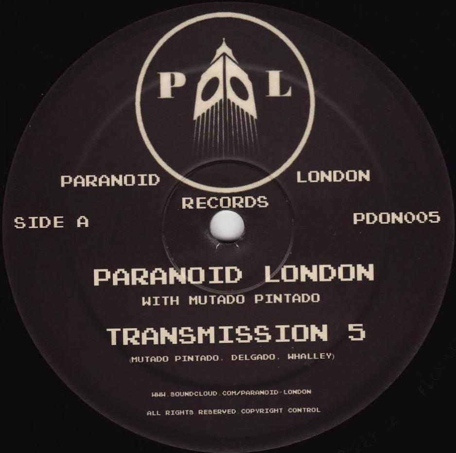 "Paranoid London/TRANSMISSION 5 12"""