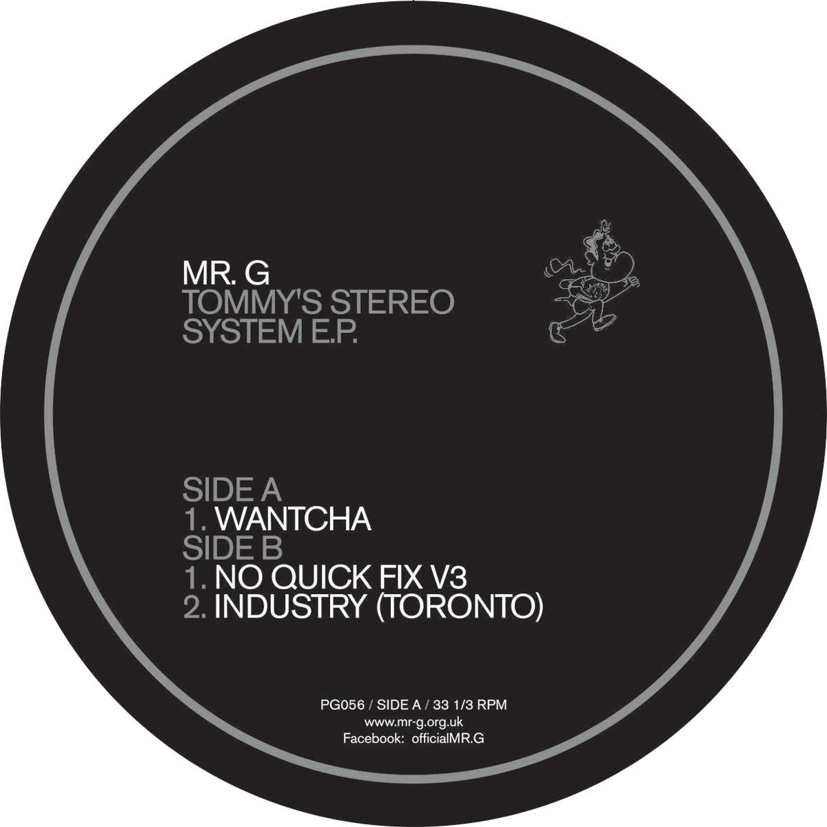 Mr. G/TOMMY'S STEREO SYSTEM EP 12""
