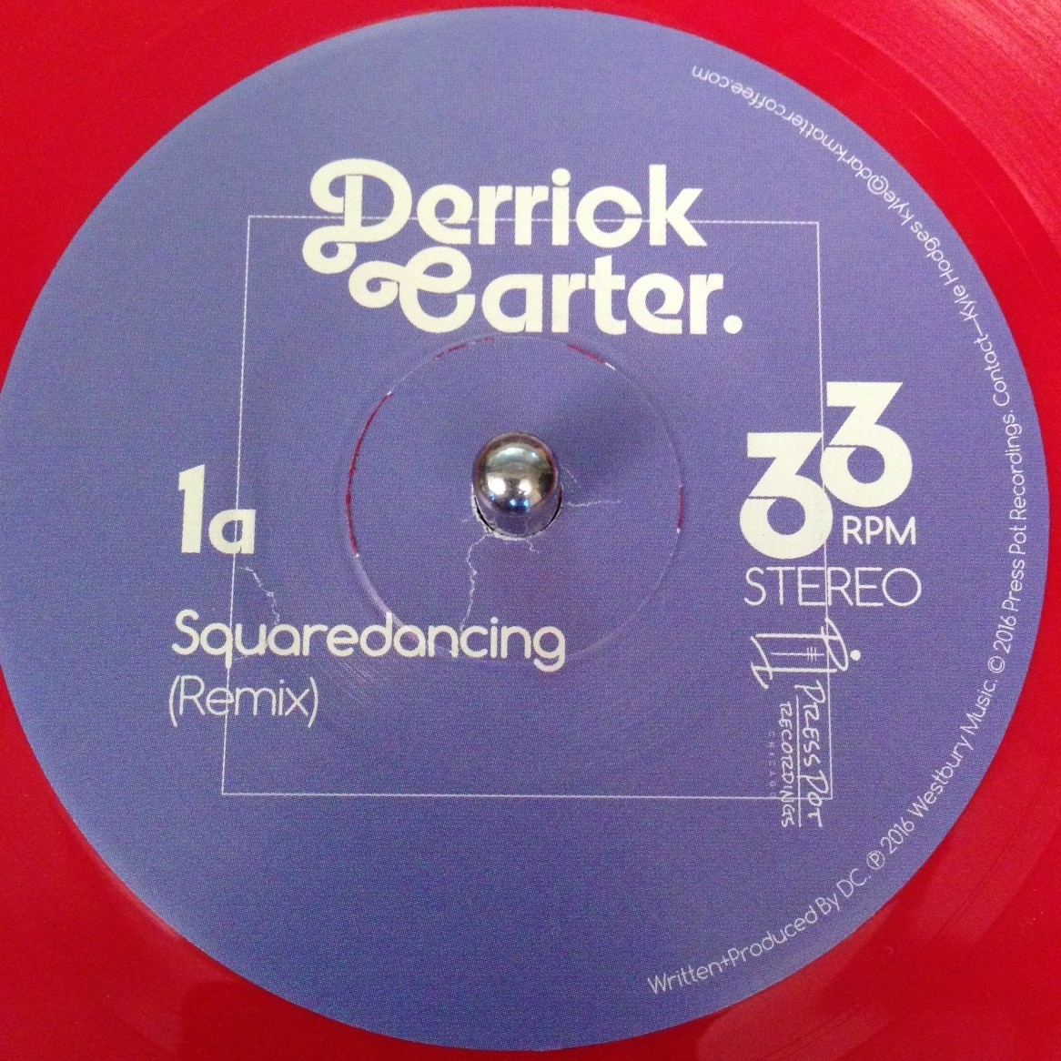 "Derrick Carter/SQUARE DANCING(COLOR) D7"""