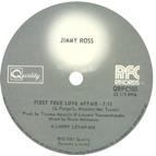 """Jimmy Ross/FIRST TRUE LOVE AFFAIR 12"""""""