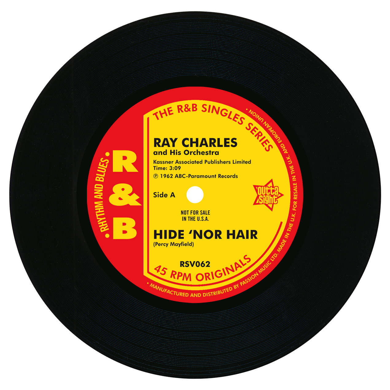 """Ray Charles/HIT THE ROAD JACK 7"""""""